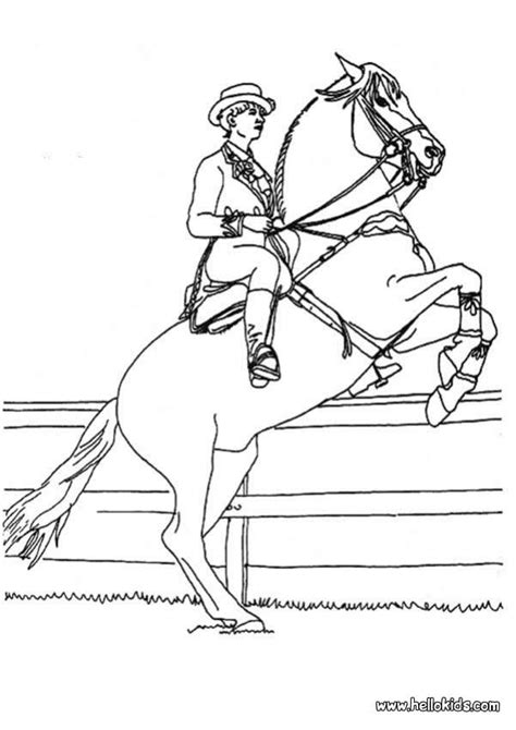 horse rider coloring pages hellokids com