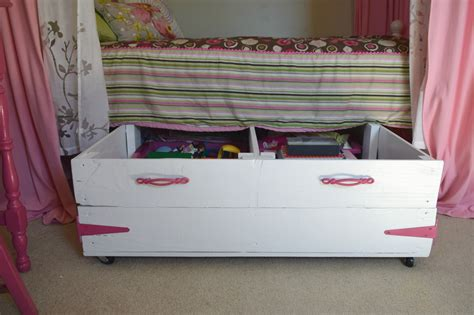 under bed storage ideas diy wood pallet under bed toy storage our house now a home