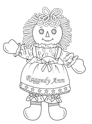 rag doll outline raggedy doll coloring page from rag dolls category