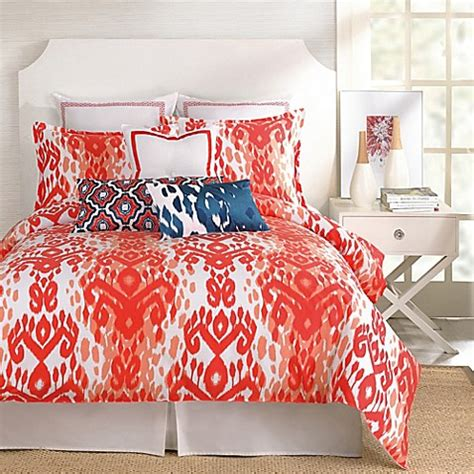 trina turk comforter trina turk 174 mojave ikat comforter set in orange bed bath