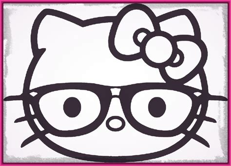 imagenes para dibujar hello kitty cara hello kitty para colorear e imprimir archivos