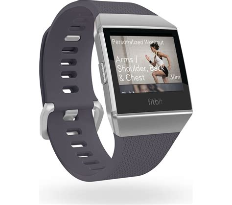 Fitbit Ionic buy fitbit ionic blue grey white free delivery currys