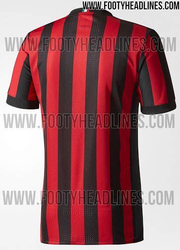Jam Tangan Custom Ac Milan B Gokil ac milan 17 18 home kit 3 poloskaos d