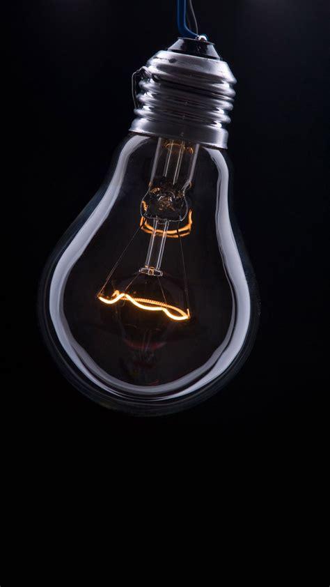 edison lightbulb  black wallpaper abstract