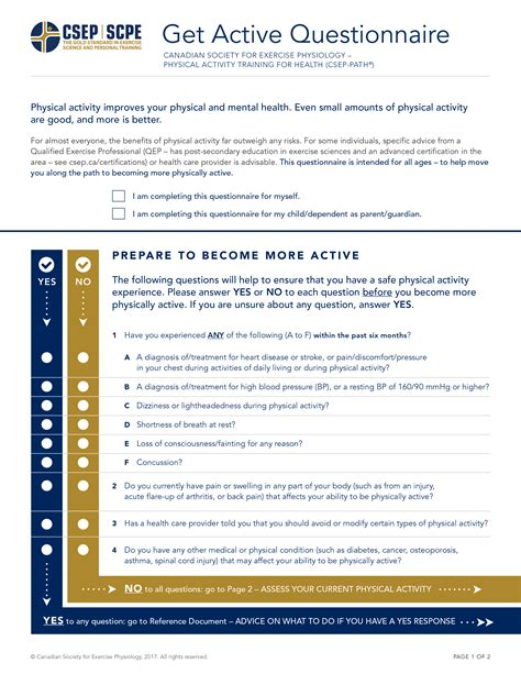 pre exercise screening form template pre exercise screening form template image collections