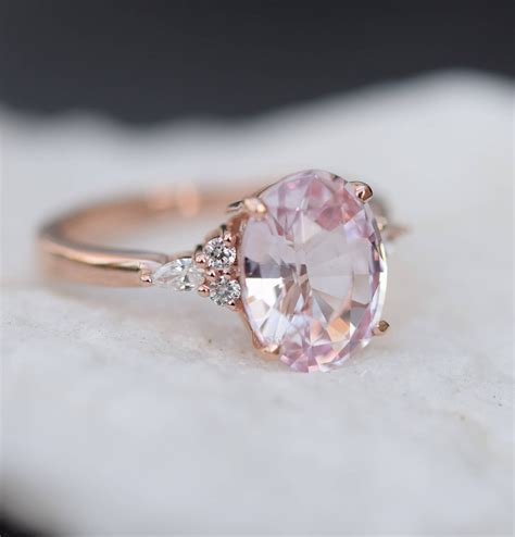 Engagement Rings Pink Sapphire by Blush Sapphire Engagement Ring Light Pink Sapphire