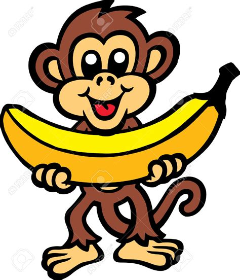 Monkilo Banana tamarin clipart bananas pencil and in color tamarin clipart bananas