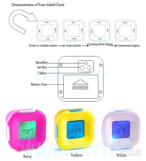 Jam Alarm Yg Menyebalkan Tapi Unik jual four sided digital clock jam alarm multifungsi empat sisi 4 rotate rotation lu led l