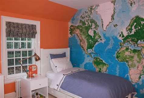 maps for rooms navy blue accent wall design ideas