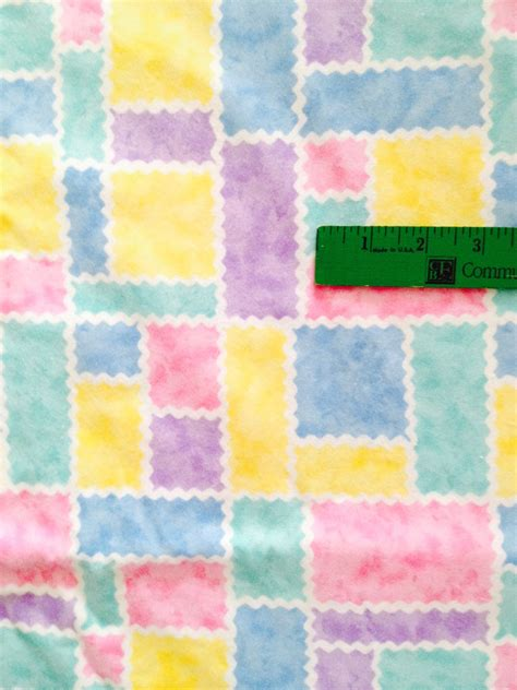 pastel flannel pattern pastel blocks cotton flannel fabric baby colors 1 yard