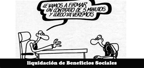 liquidacion de beneficios sociales foro contable liquidaci 243 n de beneficios sociales excel servicios