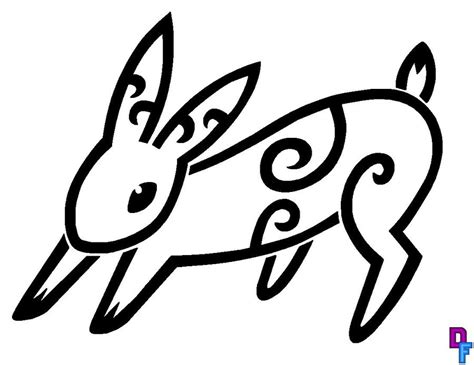 rabbit tribal tattoo rabbit tribal design