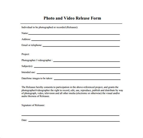 photo and video release form anuvrat info
