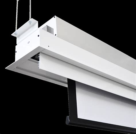 Ceiling Projector Screen by Raphael In Ceiling Recessed Electric Projector Screen