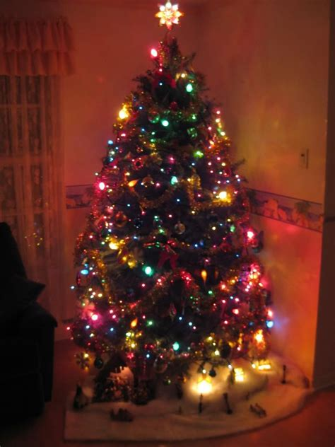 large colored christmas tree lights festival collections