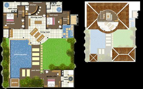 villa layout plan with pool foundation dezin decor villa bungalow floor layout