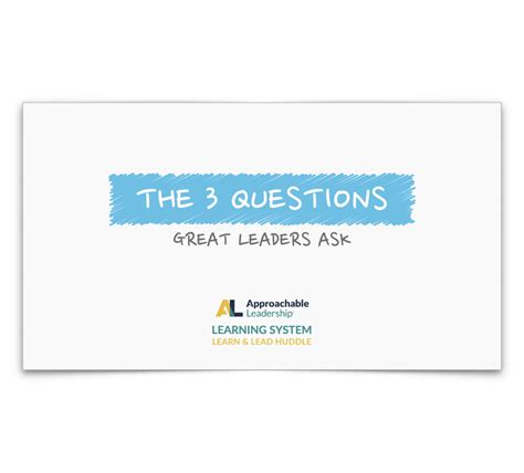 learn laugh lead how to avoid a leadersh t books 3 questions of approachable leaders learn and lead huddle