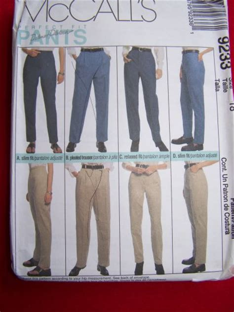 sewing pattern ladies trousers womens pants trousers jeans slacks sz 18 sewing pattern