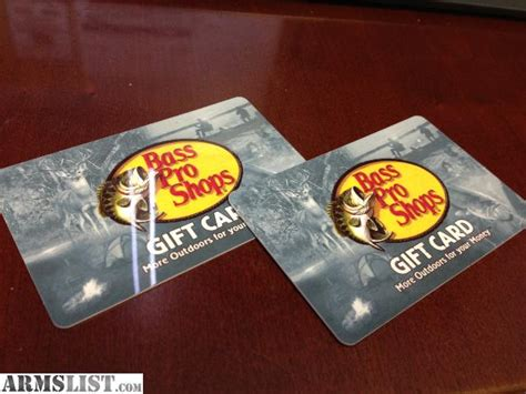 Where Can I Use A Bass Pro Gift Card - armslist for sale two 100 bass pro shop gift cards