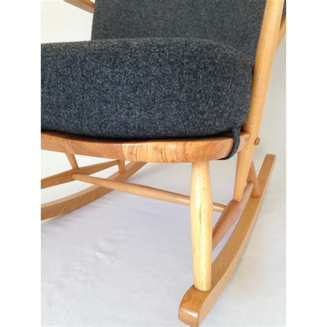 ercol rocking chair cushion covers ercol rocking chair 1960 s fully restored with new cushions