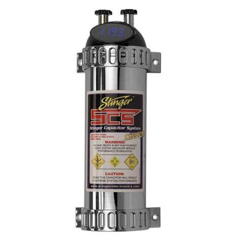 audio blocking capacitor stinger scsk1 car audio nitrous 1 farad capacitor digital volt meter w distribution block