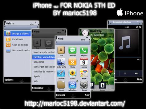 iphone themes nokia iphone v1 0 by marioc5198 on deviantart