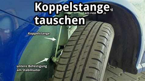 W203 Tieferlegen Gummis by Koppelstange Pendelst 252 Tze Am Stabilisator Tauschen Youtube