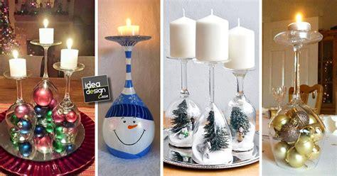 bicchieri personalizzati vetro portacandele natalizi con bicchieri di vetro fai da te 20