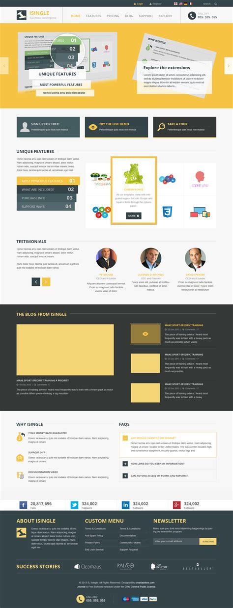 joomla template styles preview sj isingle responsive joomla 3 x template for