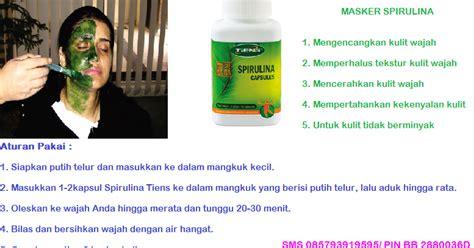 Masker Spirulina Dan Chitosan pemutih wajah alami tiens suplemen kulit tiens paket