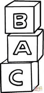 cubi con lettere disegno di cubi con lettere a b c da colorare disegni