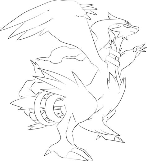 pokemon coloring pages of zekrom lineart of reshiram by inukawaiilover on deviantart