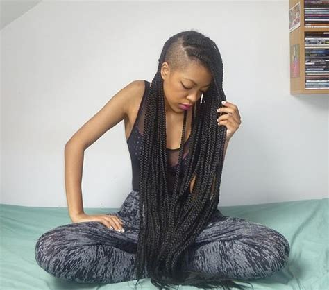 cutting box braids loving missp box braids yes again so wat