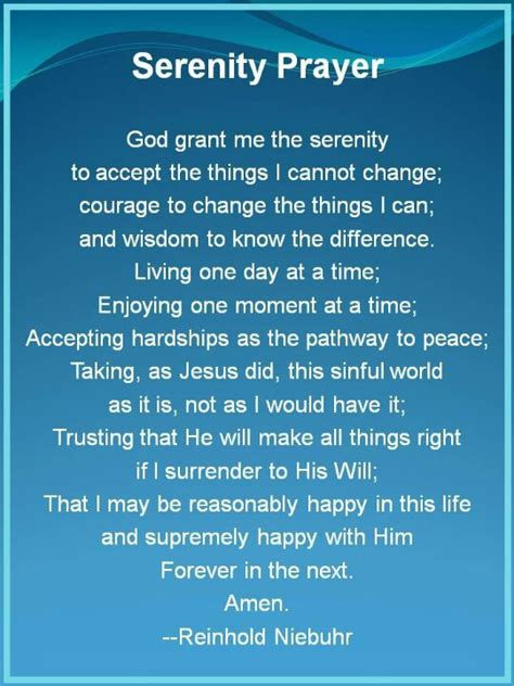full version of serenity prayer serenity prayer long version 6 14 15 touchpoints from