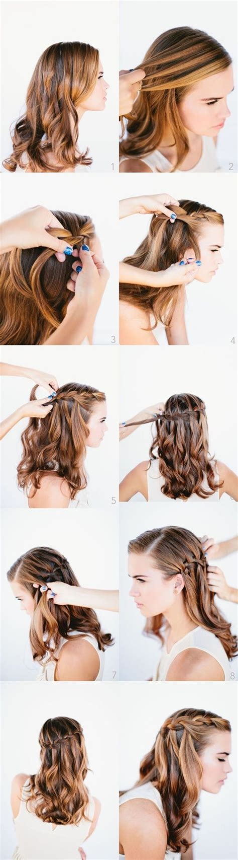 braided hairstyles how to do hair how to do a waterfall braid hairstyle fab fashion fix