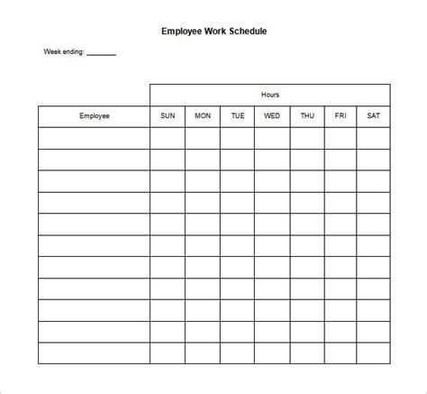 printable schedule for employees employee schedule template beepmunk