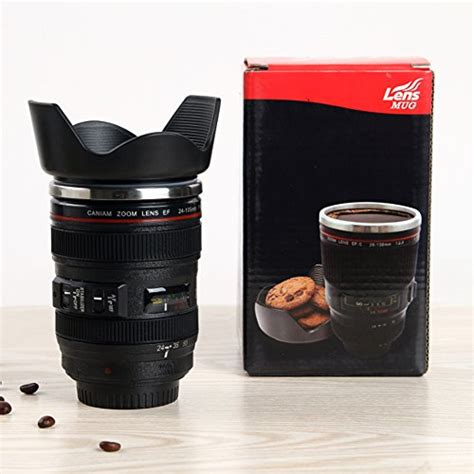Mug Lensa White Canon Lens Mug Bahan Stainless Steel Ya lens mug canon 12 oz travel coffee cup tea mug stainless steel tumbler ebay