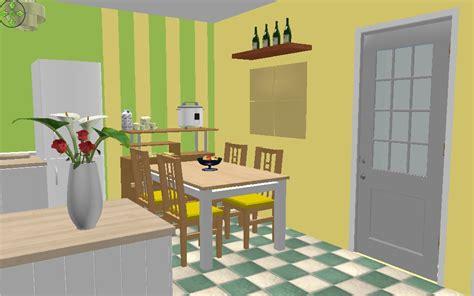 Meja Makan Biasa design contoh interior ruangan di sweet home 3d