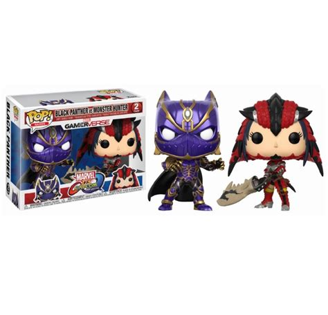 Funko Pop Marvel Vs Capcom Infinite Captain Marvel Vs Chun Li pack figurines funko pop marvel vs capcom infinite black panther vs 9cm funko