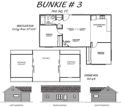 bunkie floor plans bunkie 3 746 sq ft french s fine homes and cottages