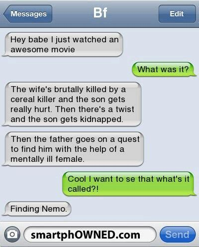 finding dory  smartphowned funny text memes funny