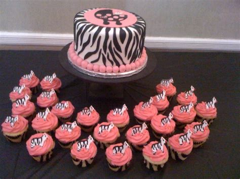 zebra baby shower cakes gallery