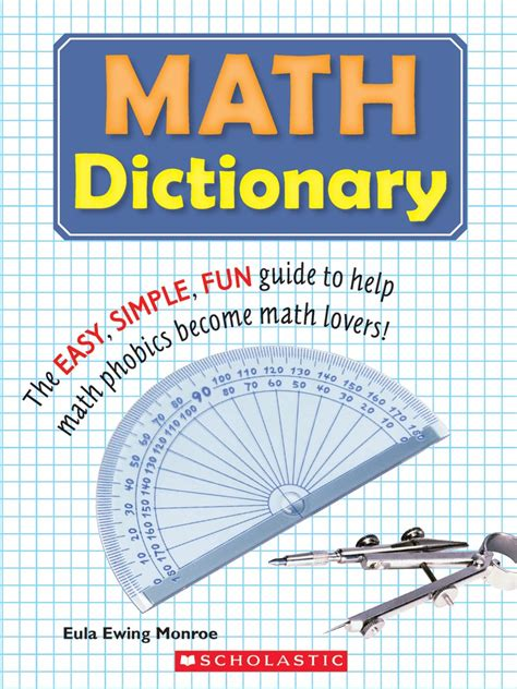 book of big advice for an easier books math dictionary by eula ewing scholastic