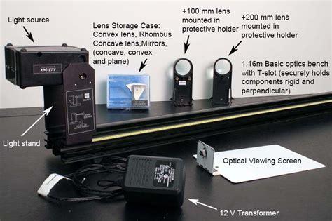 optical bench lab experiment 3 geometrical optics ucla physics astronomy