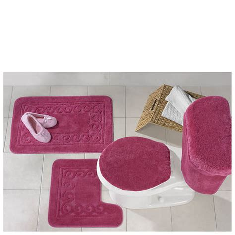 5 piece bathroom rug set 5 piece scroll bath rug set out of stock stoneberry