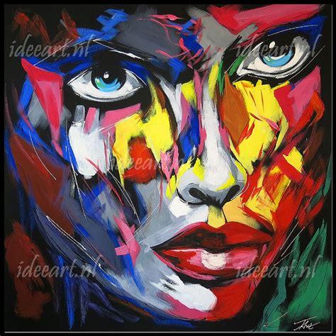 b rotische schilderij abstract gezicht schilderijen abstract