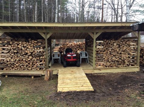 Storing Firewood In Garage by Firewood Lawn Equipment Storage Outside The House