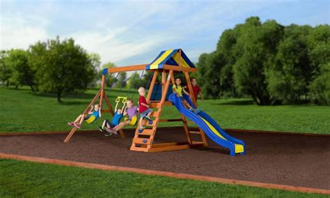 dayton swing set backyard discovery dayton cedar wooden swing set outdoor