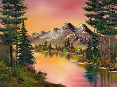 bob ross painting classes in utah bob ross a sunset or you choose beautifully done