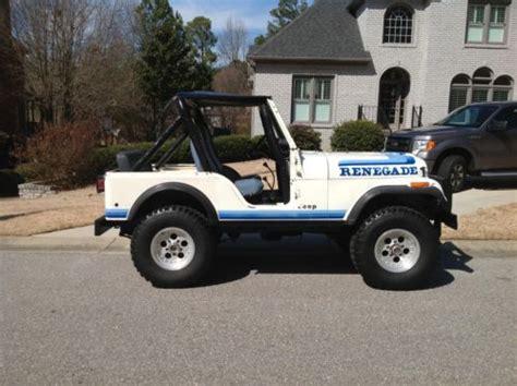 1981 jeep renegade sell used 1981 jeep cj 5 renegade unrestored 78k